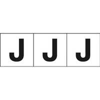 【CAINZ DASH】TRUSCO アルファベットステッカー 30×30 「J」 白 3枚入
