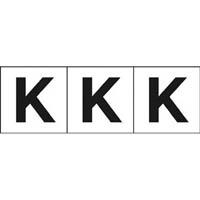 【CAINZ DASH】TRUSCO アルファベットステッカー 30×30 「K」 白 3枚入