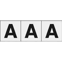 【CAINZ DASH】TRUSCO アルファベットステッカー 30×30 「A」 透明 3枚入