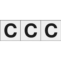 【CAINZ DASH】TRUSCO アルファベットステッカー 30×30 「C」 透明 3枚入