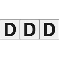 【CAINZ DASH】TRUSCO アルファベットステッカー 30×30 「D」 透明 3枚入