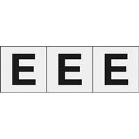 【CAINZ DASH】TRUSCO アルファベットステッカー 30×30 「E」 透明 3枚入