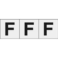 【CAINZ DASH】TRUSCO アルファベットステッカー 30×30 「F」 透明 3枚入