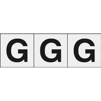 【CAINZ DASH】TRUSCO アルファベットステッカー 30×30 「G」 透明 3枚入
