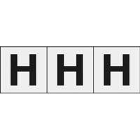 【CAINZ DASH】TRUSCO アルファベットステッカー 30×30 「H」 透明 3枚入