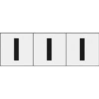【CAINZ DASH】TRUSCO アルファベットステッカー 30×30 「I」 透明 3枚入