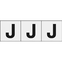 【CAINZ DASH】TRUSCO アルファベットステッカー 30×30 「J」 透明 3枚入