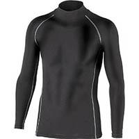【CAINZ DASH】おたふく BTパワーストレッチハイネックシャツ ブラック L