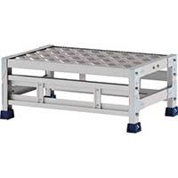 【CAINZ DASH】アルインコ 作業台(天板縞板タイプ)1段 天板寸法600×400mm高0.25m