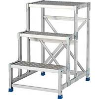 【CAINZ DASH】アルインコ 作業台(天板縞板タイプ)3段