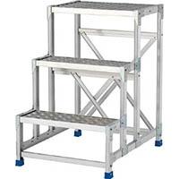 【CAINZ DASH】アルインコ 作業台(天板縞板タイプ)2段