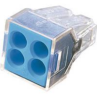 【CAINZ DASH】WAGO WGX−4 差込コネクタ 4穴用 10個入
