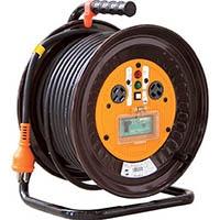 【CAINZ DASH】日動 電工ドラム 三相200Vドラム アース漏電しゃ断器付 30m