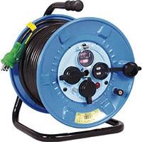 【CAINZ DASH】日動 電工ドラム 防雨防塵型100Vドラム アース過負荷漏電しゃ断器 30m