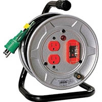 【CAINZ DASH】日動 電工ドラム 標準型100Vドラム アース過負荷漏電しゃ断器付 10m
