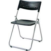 【CAINZ DASH】アイリスチトセ アルミ折りたたみ椅子(スタッキング) アルミパイプ ブラック