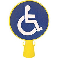 【CAINZ DASH】ミツギロン コーン看板車椅子シール付き 300φ×94×426