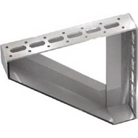 【CAINZ DASH】TRUSCO 配管支持用対面兼用三角ブラケット ステンレス 210X210