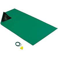 【CAINZ DASH】HOZAN 導電性カラ−マット 1×1.8M グリーン 補強繊維入り