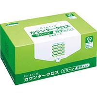 【CAINZ DASH】クレシア カウンタークロス 厚手タイプ グリーン