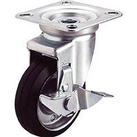 【CAINZ DASH】ユーエイ プレート式キャスター自在車S付75径ゴム車輪