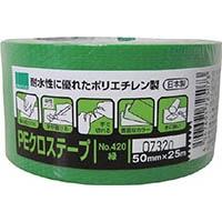 オカモト NO420 PEクロステープ包装用 緑 50ミリ 420g