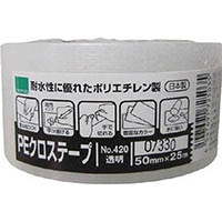 【CAINZ DASH】オカモト NO420 PEクロステープ包装用 透明 50ミリ