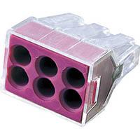 【CAINZ DASH】WAGO WGX−6 差込コネクタ 6穴用 (1箱(PK)=50個入)