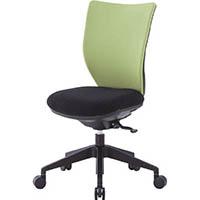 【CAINZ DASH】アイリスチトセ 回転椅子3DA ライムグリーン 肘なし シンクロロッキング