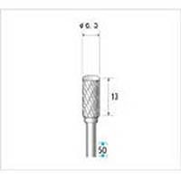 【CAINZ DASH】ナカニシ 超硬カッター 円筒(ダブルカット) 刃径6.3mm 刃長13mm