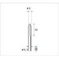 【CAINZ DASH】ナカニシ 超硬カッター 砲弾(ダブルカット) 刃径3mm 刃長12.7mm