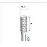 【CAINZ DASH】ナカニシ 超硬カッター 円筒(ダブルカット) 刃径9.5mm 刃長19mm