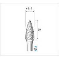【CAINZ DASH】ナカニシ 超硬カッター 砲弾(ダブルカット) 刃径9.5mm 刃長20mm