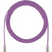 【CAINZ DASH】パンドウイット カテゴリ5E細径パッチコード 3m 紫