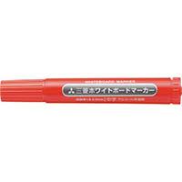 【CAINZ DASH】uni 三菱鉛筆/ホワイトボードマーカー/中字/赤