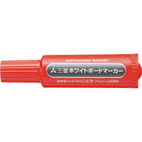 【CAINZ DASH】uni 三菱鉛筆/ホワイトボードマーカー/太字/赤