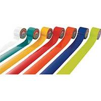 【CAINZ DASH】緑十字 ラインテープ(反射) 蛍光黄 50mm幅×10m 屋内用 ポリエステル