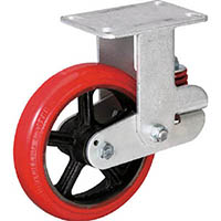 【CAINZ DASH】イノアック バネ付き牽引車輪(ウレタン車輪タイプ 固定金具付 Φ150)