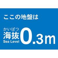 【CAINZ DASH】TRUSCO 海抜ステッカー 0.3m (2枚入)