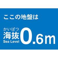 【CAINZ DASH】TRUSCO 海抜ステッカー 0.6m (2枚入)