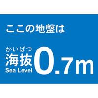 【CAINZ DASH】TRUSCO 海抜ステッカー 0.7m (2枚入)
