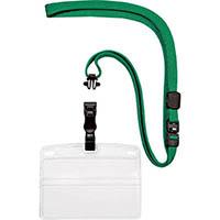 【CAINZ DASH】OP 吊り下げ名札 脱着式 名刺サイズ 10枚 緑