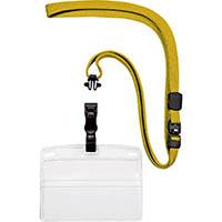 【CAINZ DASH】OP 吊り下げ名札 脱着式 名刺サイズ 10枚 黄