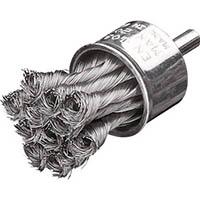【CAINZ DASH】LESSMANN 軸付ノット型エンドブラシ Φ29 高張度鋼線 0.25
