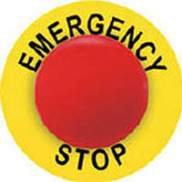 【CAINZ DASH】パンドウイット 非常停止ボタン用ラベル (25本入)