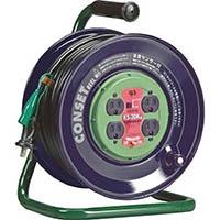 【CAINZ DASH】ハタヤ コンセント盤固定型コードリール 単相100Vアース付 30m