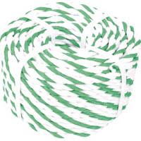 【CAINZ DASH】TRUSCO 標識ロープ 7.5mm×20m 白・緑