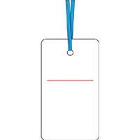 【CAINZ DASH】つくし ケーブルタグ 荷札式 白無地 両面印刷 ビニタイ付き