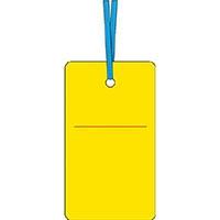 【CAINZ DASH】つくし ケーブルタグ 荷札式 黄無地 両面印刷 ビニタイ付き