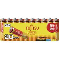 【数量限定】富士通 アルカリ電池 単3×20本 Long Life LR6FL(20S)